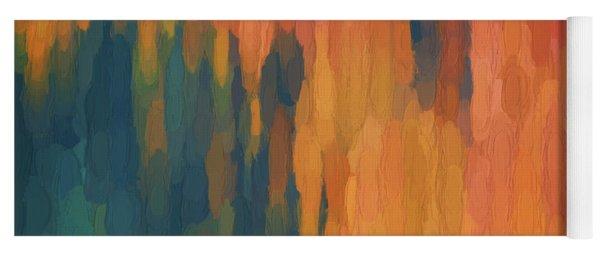 Color Abstraction Xlix Yoga Mat