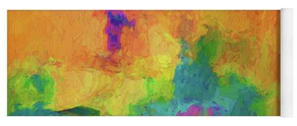 Color Abstraction Xxxiv Yoga Mat