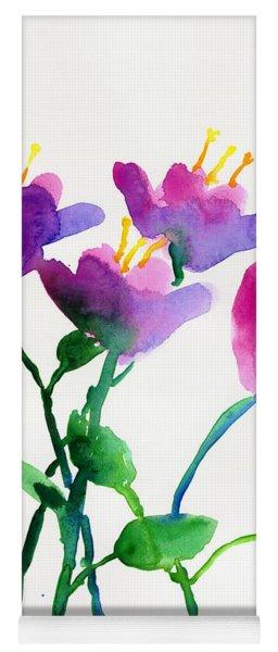 Color Flowers Yoga Mat