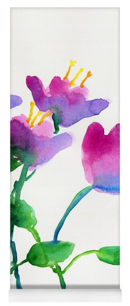 Color Flowers Yoga Mat