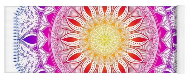 Color Life Circle Mandala - Zendala - Customize Your Background Color Yoga Mat