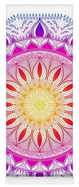 Color Life Circle Mandala - Zendala - Customize Your Background Color Yoga Mat