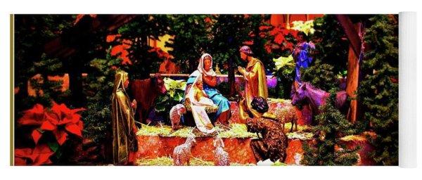 Color Vibe Nativity - Border Yoga Mat