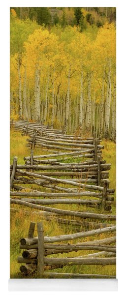 Colorado Fall Split Rail Fence Yoga Mat