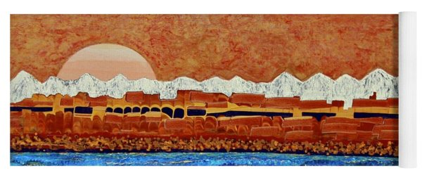Yoga Mat featuring the painting Colorado River by Richard Van Vliet