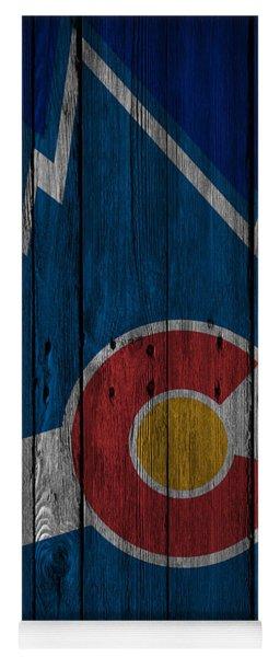 Colorado Rockies Wood Fence Yoga Mat