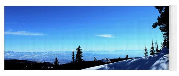 Colorado Rocky Mountain Winter Landscape I Yoga Mat