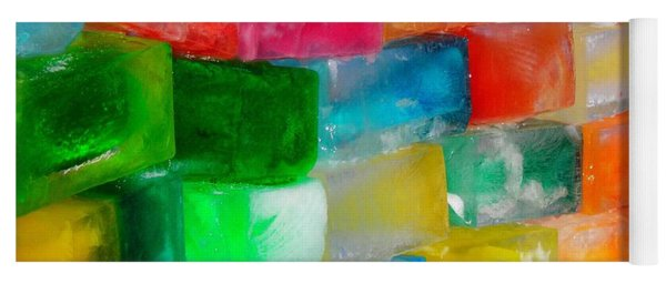 Colored Ice Bricks Yoga Mat