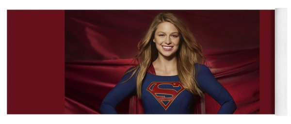 Colored Pencil Study Of Supergirl - Melissa Benoist Yoga Mat