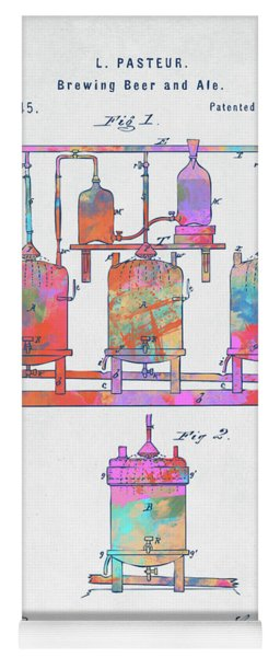 Colorful 1873 Brewing Beer And Ale Patent Artwork Yoga Mat