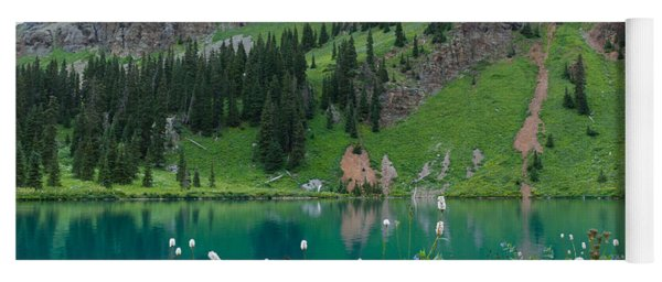 Yoga Mat featuring the photograph Colorful Blue Lakes Landscape by Cascade Colors