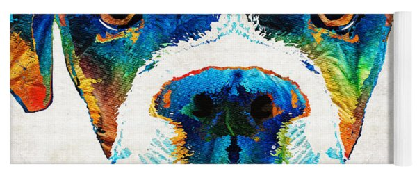 Colorful Boxer Dog Art By Sharon Cummings  Yoga Mat