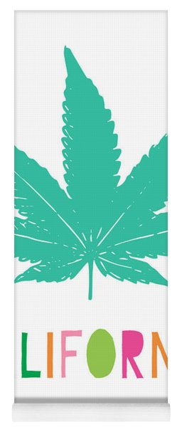 Colorful California Cannabis- Art By Linda Woods Yoga Mat