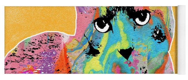 Colorful Cat With An Attitude- Art By Linda Woods Yoga Mat