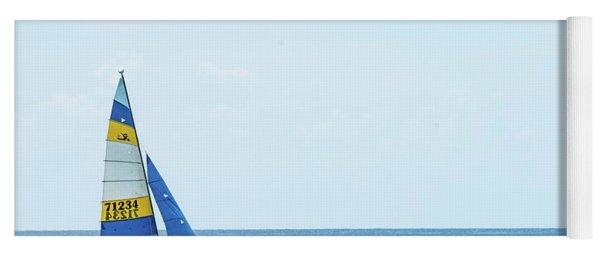 Colorful Catamaran 3 Delray Beach Florida Yoga Mat