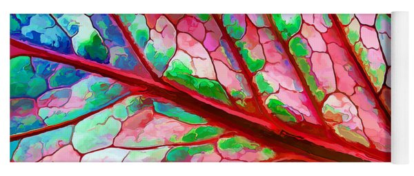 Colorful Coleus Abstract 5 Yoga Mat