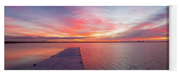 Colorful Colorado Sunrise At Lon Hagler Reservoir In Loveland Co Yoga Mat