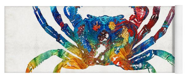 Colorful Crab Art By Sharon Cummings Yoga Mat