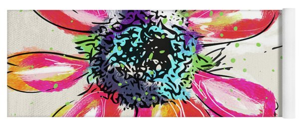 Colorful Daisy- Art By Linda Woods Yoga Mat