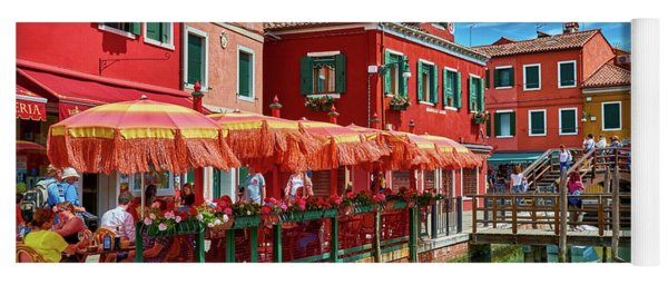 Colorful Day In Burano Yoga Mat