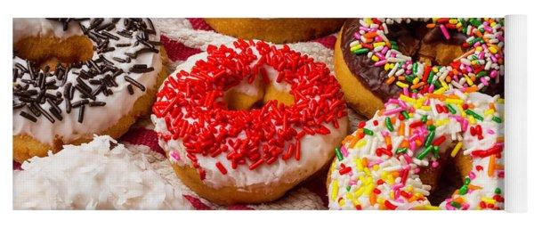 Colorful Donuts Yoga Mat