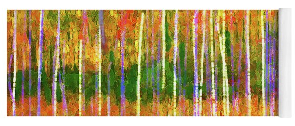 Colorful Forest Abstract Yoga Mat