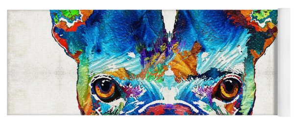 Colorful French Bulldog Dog Art By Sharon Cummings Yoga Mat
