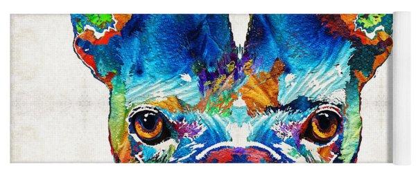 Colorful French Bulldog Dog Art By Sharon Cummings Yoga Mat