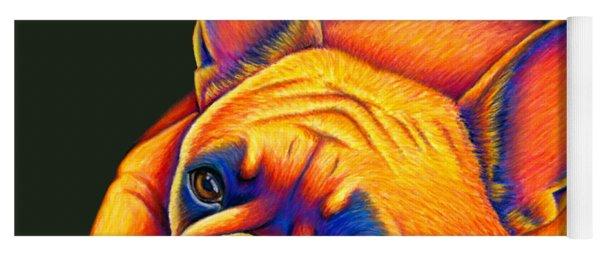 Colorful French Bulldog Yoga Mat