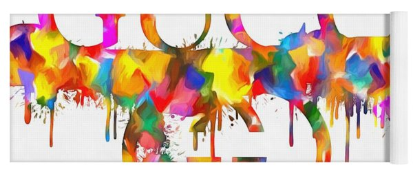 Colorful Gucci Paint Splatter Yoga Mat