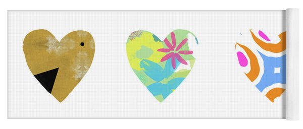 Colorful Hearts- Art By Linda Woods Yoga Mat