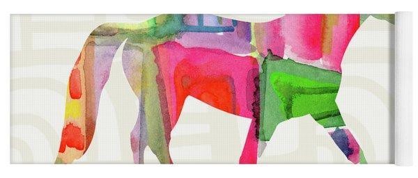 Colorful Horse 1- Art By Linda Woods Yoga Mat