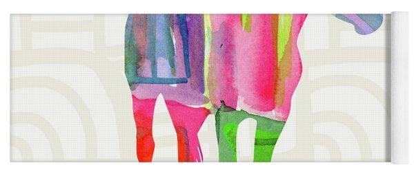 Colorful Horse 2- Art By Linda Woods Yoga Mat