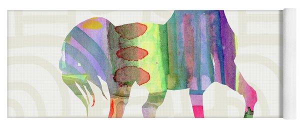Colorful Horse 3- Art By Linda Woods Yoga Mat