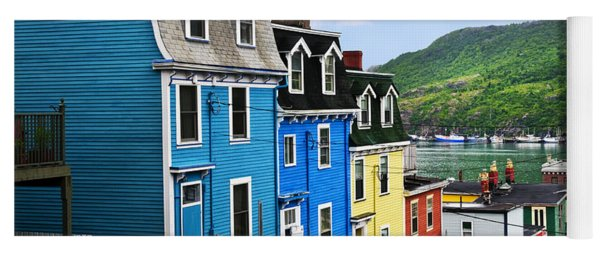 Colorful Houses In St. John's Yoga Mat