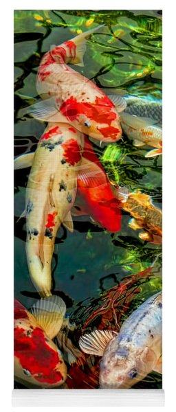 Colorful  Japanese Koi Fish Yoga Mat