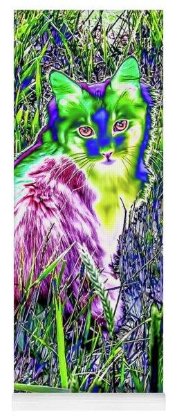 Colorful Kitty Yoga Mat