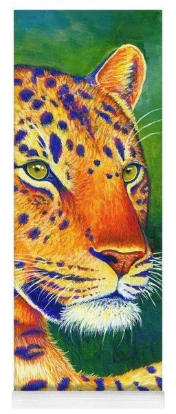 Colorful Leopard Portrait Yoga Mat