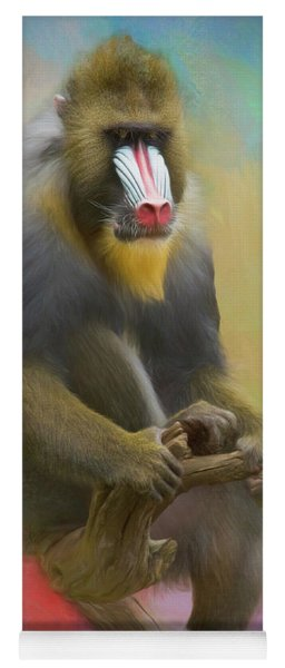 Colorful Mandrill Yoga Mat