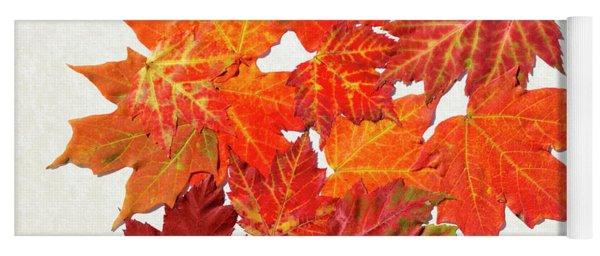 Colorful Maple Leaves Yoga Mat