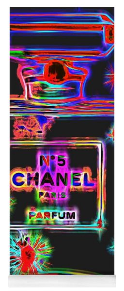 Colorful Neon Chanel Five  Yoga Mat