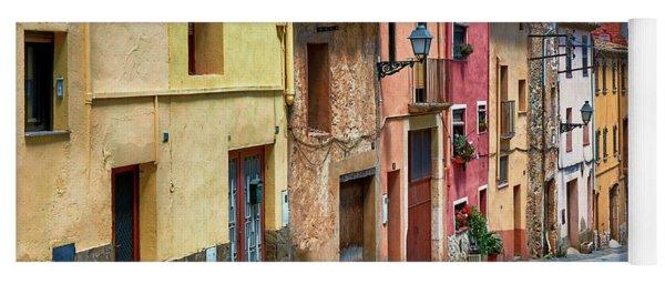 Colorful Old Houses In Tarragona Yoga Mat