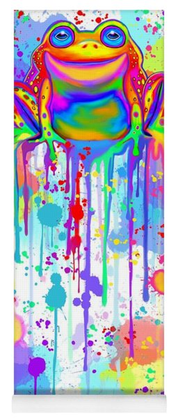Colorful Painted Frog  Yoga Mat