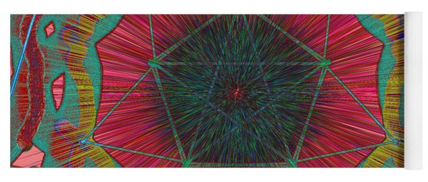 Colorful Pentagonal Abstract Yoga Mat
