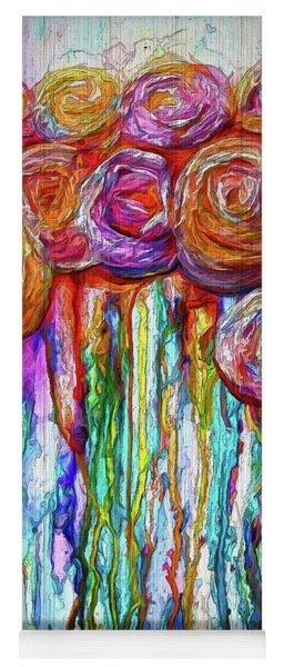 Colorful Roses Design  Yoga Mat