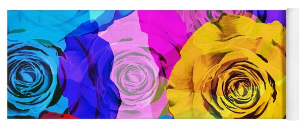Colorful Roses Design Yoga Mat
