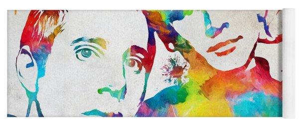 Colorful Simon And Garfunkel Yoga Mat