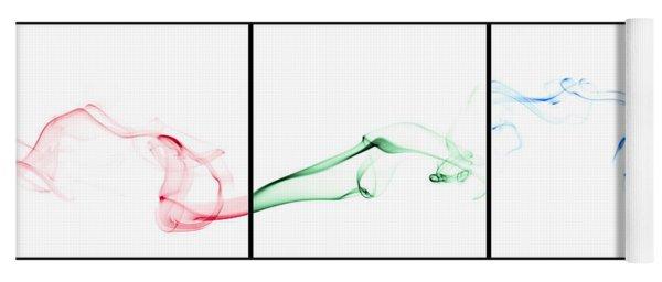 Colorful Smoke II - Rgb Triptych Yoga Mat