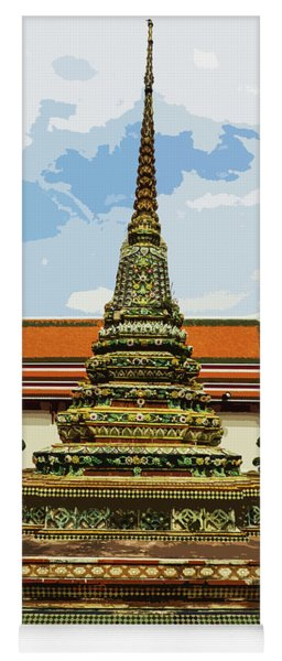 Colorful Stupas At Wat Pho Yoga Mat
