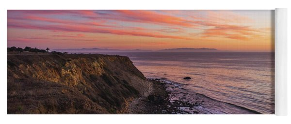 Colorful Sunset At Golden Cove Yoga Mat